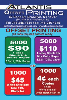 Atlantis Printing | Brooklyn Printing House
