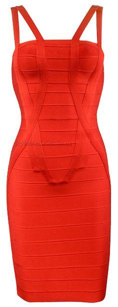 Cherry Red Bodycon Dress
