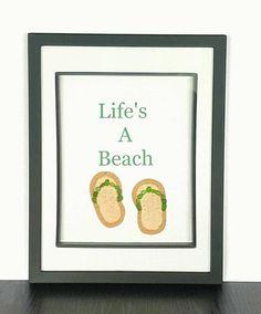 Sea Glass Art Flip Flops, Life's A Beach Quote! 20 Pieces Of Genuine Green Nova Scotia Sea Glass. Coastal Bathroom Decor, Bathroom Art, Coastal Decor, Sea Glass Mosaic, Sea Glass Art, Mosaic Art, Green Wall Decor, Beach Bathrooms, Create And Craft
