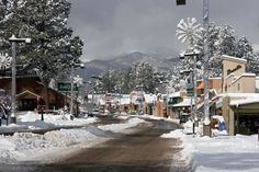 Ruidoso, NM - a favorite weekend destination for my family.  Guaranteed to have cool temps in the summer, and snow in the winter.