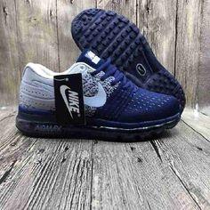 Nike Air Max 2017 Netflix LUNARLUNCH Deep Blue Grey Sports Shoes