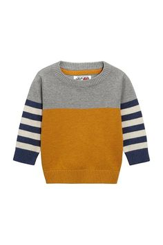 Buy Younger Boys knitwear from the Next UK online shop – TRICOT - Kindermode Baby Boy Knitting Patterns, Baby Sweater Patterns, Baby Sweater Knitting Pattern, Knit Baby Sweaters, Boys Sweaters, Knitting For Kids, Start Knitting, Baby Cardigan, Kind Mode