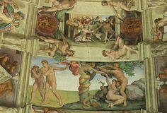 Sistine Chapel noah-sacrifice-adam-eve-temptation by Triggerpit, via Flickr