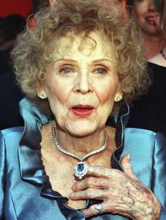 15-Carat Blue Diamond necklace worth $20 million worn by Gloria Stuart on the 1998 Academy Awards when she nominated as Best Supporting Actress for her role in Titanic. It's one of the most expensive pieces of jewelry every worn to the Academy Awards.