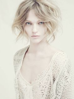Sasha Pivovarova by Paolo Roversi for Alberta Ferretti Spring 2011 Campaign// Women all over the world go to great (and sometimes dangerous) lengths for pale skin. Yet in the US, women are going to clearly dangerous lengths (skin cancer kills) to be tan. How twisted. I adore my pale skin.
