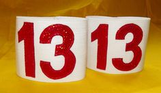 Derby number armbands.