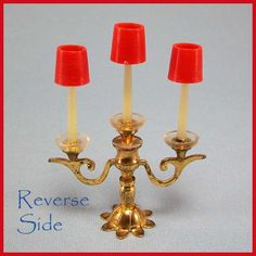Image detail for -Petite Princess Dollhouse #4439-6 Royal Candelabra by Ideal 1964 from ...