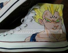 1cbbc6037229 custom painted dragon ball z shoes dragon ball z painted  shoes Painted  Converse