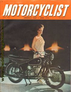 1966 June Motorcyclist Magazine – Cover Photo: BMW R-60 and Mrs. Jan Stevens