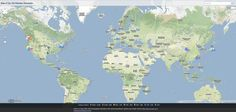 Le Top 100 des sites les plus visités dans le monde et leurs locations sur Google Maps