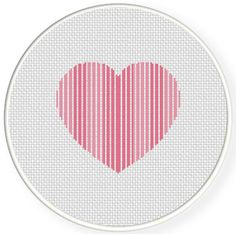 FREE Striped Heart Cross Stitch Pattern