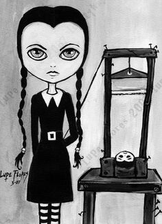 Wednesday Addams Painting by ~ArtbyLupeFlores on deviantART