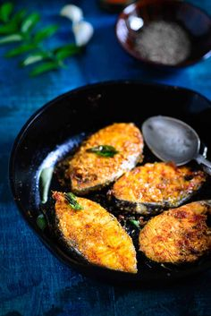 Chettinad Fish Fry is a classic recipe from the Chettinad region of Tamil Nadu. The fish is marinated with spicy masala and is shallow fried till golden brown.