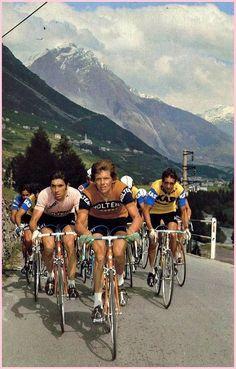 A year earlier he came very close to winning the monument, Paris Roubaix. Vintage Cycles, Vintage Bikes, Paris Roubaix, Road Mountain Bike, Bike Rider, Bike Frame, Cycling Art, Classic Bikes, Team S