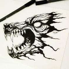 DISPO POUR TATTOO #spiraink dotwork wolf