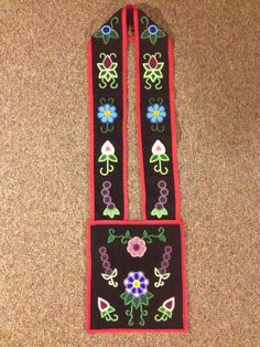Finished Women's Bandolier Bag- Designed, Beaded and Made by: Jessica Gokey