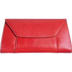 Valextra Handy Clutch (3,735 PEN) ❤ liked on Polyvore featuring bags, handbags, clutches, red, red clutches, red handbags, red purse, valextra handbags and valextra