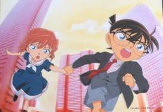 Haibara Ai and Edogawa Conan / The Darkest Nightmare, the 20th movie in the Detective Conan 劇場版『名探偵コナン 純黒の悪夢