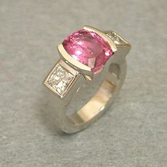 #Pink Sapphire and diamond...    Buy Now ! repin .. like .. share :)    $755.00  http://amzn.to/X7PVz6