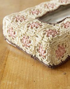 crochet tissue paper box cover