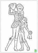 Barbie & Her Sisters in a Pony tale - free coloring pages