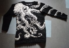 I MUST HAVE YOU. PDF pattern Octopus sweater Embrace by PhysaliaPhysalis on Etsy