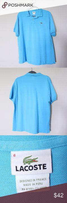 Lacoste size 6 men's blue polo Lacoste size 6 men's blue polo Lacoste Shirts Polos