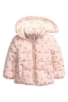 Casaco acolchoado: Casaco acolchoado com capuz removível com forro em tecido…