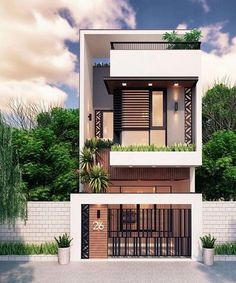 Exterior Design ideas 999 Best Exterior Design Ideas The Art of Waxing Your Flo Narrow House Designs, Modern Small House Design, Modern Minimalist House, Home Modern, Contemporary Design, Bungalow Haus Design, Duplex House Design, Townhouse Designs, House Front Design