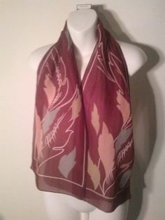 Vintage 1970's Burgundy Scarf by LMTDInteriorConsults on Etsy, $15.46