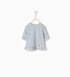 Image 1 of Frilled striped top from Zara