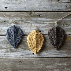 Knitting Pattern  Autumn Leaves  Leaf  Knit by TheSittingTree
