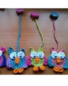 Búho marcapáginas en crochet | Panderetas.es