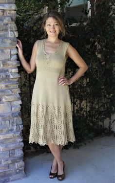 Cotton dress with lace bottom, hand knitted Knit Dress, Lace Dress, Lace Knitting, Cotton Dresses, Projects, Fashion, Tricot, Breien, Log Projects