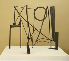 Anthony Caro, Drawing in Space. Black metal sculpture. I have never forgotten the idea of drawing in space.