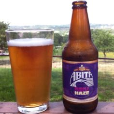 Abita Purple Haze,  Abita Brewing Co. Abita Springs Louisiana. Always a good beer on a hot afternoon!