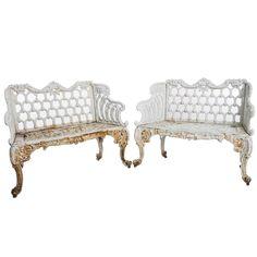Regency Style Garden Benches