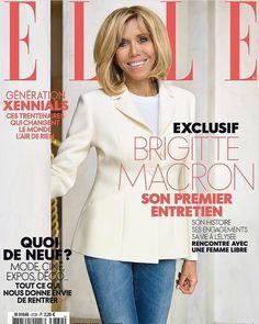 "Polubienia: 517, komentarze: 14 – Brigitte Macron's style (@thebrigittestyle) na Instagramie: ""First Lady Brigitte is on the cover of this week's ELLE France magazine #brigittemacron…"""