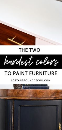 Bright White or Black: These 2 colors may seem to be the simplest colors to use, but in reality, they are the hardest colors to paint furniture. Read more. Diy Furniture Easy, Diy Furniture Projects, Repurposed Furniture, Furniture Makeover, Repainting Furniture, Paint Furniture, Furniture Painting Techniques, How To Make Paint, Distressed Furniture