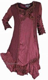 JUST IN!! Prefect for the holidays and more!! Pretty Angel Clothing Piper Vintage Tunic In Dark Red
