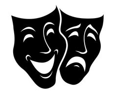 Theater masks, Comedy, Tragedy, Mask, SVG,Graphics,Illustration,Vector,Logo,Digital,Clipart