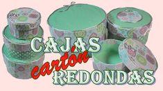 Como hacer Cajas Redondas de cartón reciclado tipo Matrioskas 🎁