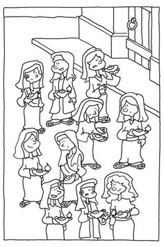 coloring pages 10 virgins - photo#26