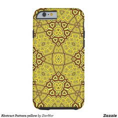 Abstract Pattern yellow Tough iPhone 6 Case