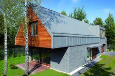 Private house, Warsaw (Poland) by FO, arch. Damian Kotwicki   #zinc #wood #architecture #poland #roofing #quartz-zinc #VMZINC