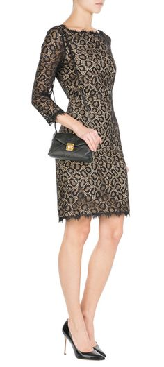 Undeniably+sultry+in+allover+lace,+this+Diane+von+Furstenberg+dress+is+finished+with+cut-out+detail+that+mimics+bold+leopard+print+#Stylebop