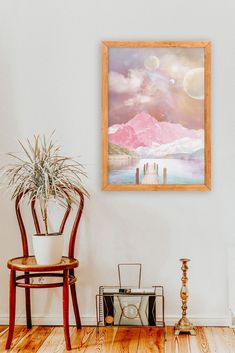 Surreal Landscape Art by InfiniteMantra. Collage Landscape,Surreal Art Print, Nursery Wall Art, Surreal Painting Wall Art. A one of a kind piece of art that will bring color and life to bedroom, living room, home office, any room. My art is inspired by dreams, taking you to a magical realm where anything is possible. #walldecor #homedecorideas #wallpainting Collage Landscape, Contemporary Art Prints, Surrealism Painting, Yoga Art, Anything Is Possible, Surreal Art, Nursery Wall Art, Collage Art, Art Pieces