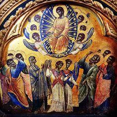 Infra octavam Ascensionis.  Paolo Veneziano l'Ascension (XIVème s.) #Accademia #Venezia #Venise