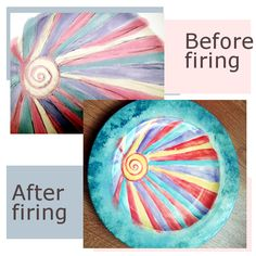 Painting ceramic plates
