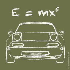 Blipshift, t-shirt, Miata, Einstein, theory of relativity | blipshift